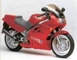 Honda VFR 750F 1990 RC36 red labels graphics