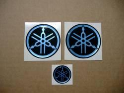 Blue Yamaha silicone bold emblems decals kit (50mm)