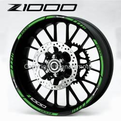 wheel rim stripes decals stickers kawasaki ninja zxr racing zx-10r z1000