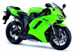 Kawasaki ZX 6R 2007 green full decals kit