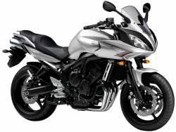 Yamaha FZ6 S2 2008 silver labels graphics