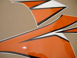 Honda 1000RR 2010 Fireblade orange full decals kit