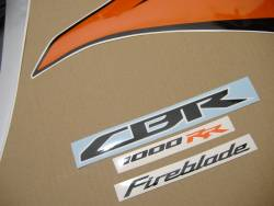 Honda CBR 1000RR 2010 SC59 orange decals kit
