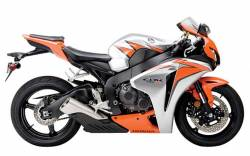 Honda 1000RR 2010 Fireblade orange decal set