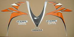 Honda 1000RR 2010 SC59 orange adhesives set