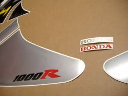 Honda RVT 1000R 2003 RC51 red adhesives set