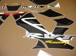 Honda 1000R 2003 RC51 red full decals kit