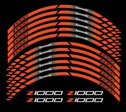 kawasaki z1000 orange wheel rim stripes graphics decals kit