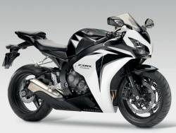 Honda 1000RR 2010 SC59 white replacement decals
