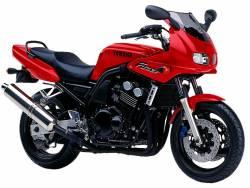 Yamaha FZS 600 1998 5DM1 red full decals kit
