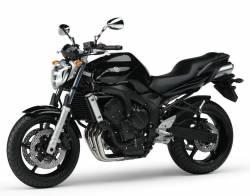 Yamaha FZ6 2005 black decals kit