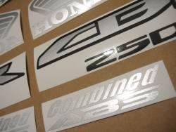 Honda 250R 2013 red stickers set