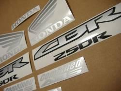 Honda 250R 2013 red complete sticker kit