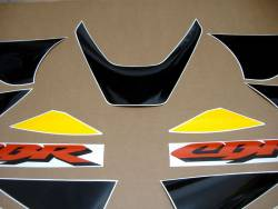 Honda 929RR 2000 Fireblade yellow labels graphics