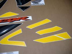 Honda CBR 929RR 2000 Fireblade yellow logo graphics