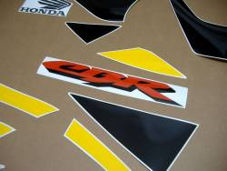 Honda 929RR 2000 SC44 yellow adhesives set