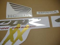 Honda 1100XX 2000 Blackbird blue full decals kit