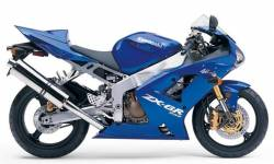 Kawasaki ZX-6R 2004 Ninja blue decals kit set