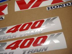 Honda VFR 400K 1991 NC21 blue adhesives set