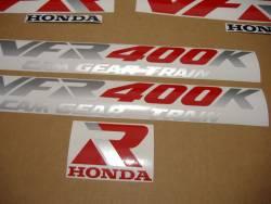 Honda VFR 1991 NC21 blue logo graphics