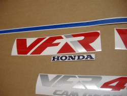 Honda VFR 400K 1991 NC21 blue stickers kit