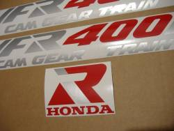 Honda VFR 1991 NC21 blue stickers set