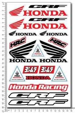 Decals set Honda CRF HRC Yoshimura
