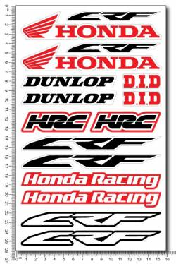 Decals set Honda CRF Dunlop HRC