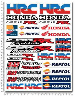 Decals set Honda cbr rr fireblade repsol hrc yoshimura