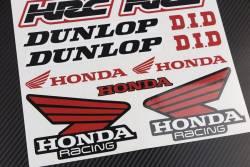 Pegatinas conjunto Honda Dunlop renthal belray hrc