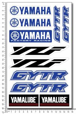 Decals set Yamaha yzf gytr yamalube