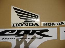 Honda 1100XX 2004 Blackbird silver full decals kit