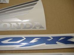 Honda CBR 600RR 2003 blue adhesives set