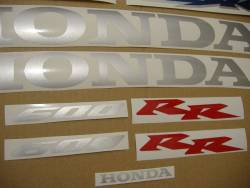 Honda 600RR 2003 blue decals