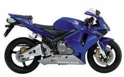 Honda CBR 600RR 2003 blue stickers kit