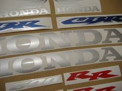 Honda CBR 600RR 2003 blue stickers