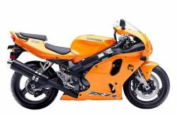 Kawasaki ZX7R 2003 Ninja orange decals kit