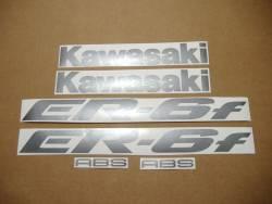 Kawasaki ER 6F 2007 blue full decals kit