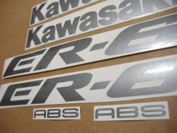 Kawasaki ER-6F 2007 650R blue logo graphics