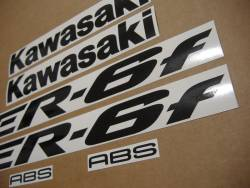 Kawasaki ER 6F 2006 green labels graphics