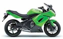 Kawasaki ER6F 2006 green stickers set