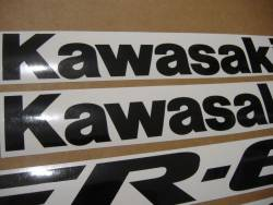 Kawasaki ER6F 650R 2006 green decals kit
