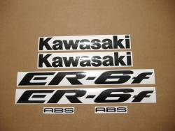 Kawasaki ER-6F 2006 650R green stickers