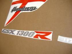 Suzuki Hayabusa GSX1300R K7 red stickers