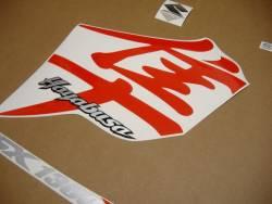 Suzuki Hayabusa 2007 red labels graphics