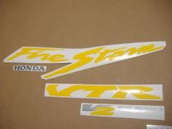 Honda 1000F 1997 Firestorm black stickers set