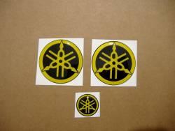 Yamaha 3d gel silicone emblems badges yellow r1 r6 r125