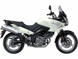 Suzuki DL 650 2010 V-strom white decals kit