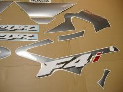 Honda 600 F4i 2004 silver complete sticker kit