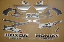 Honda CBR 600 F4i 2004 silver stickers